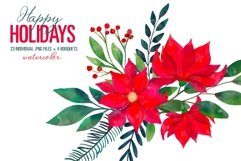 Christmas Floral Clipart Xmas New Year Bouquets PNG Images Product Image 2