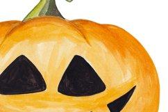 Halloween Pumpkin clipart Watercolor pumpkin set Product Image 2