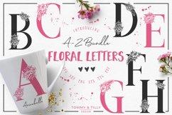 A-Z Floral Letters Bundle - SVG DXF PNG EPS JPG PDF Cut File Product Image 1