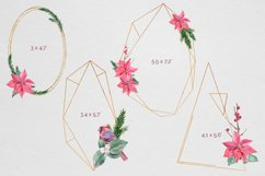 Christmas watercolor geometric frames Product Image 2