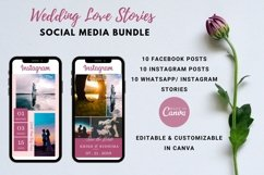 Social Media Templates- Wedding Love Stories Product Image 2