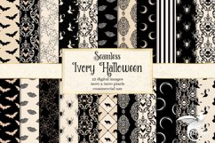 Ivory Halloween Digital Paper Product Image 1