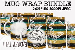 Mug Sublimation Wrap - Antisocial Butterfly Bundle Product Image 1