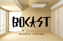 Bocast Japan Style Display Font Product Image 1