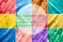 Rustic wooden backgrounds set Product Image 1