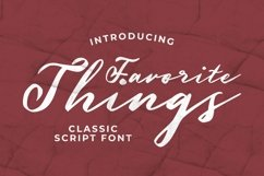 Web Font Favorite Things Font Product Image 1