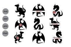Dragon svg, Dragon monogram svg, Dragon clipart. Product Image 1