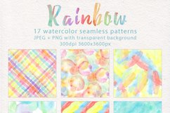 Rainbow watercolor seamless pattern Product Image 2