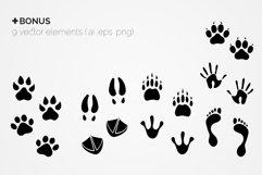 Paw Prints Seamless Patterns Product Image 2
