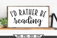 I'd Rather Be Reading SVG Product Image 1