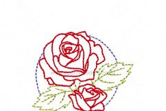 Floral Circle Rose Outline Machine Embroidery Design Product Image 4
