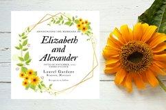 Sunflower Wedding Invitation Product Image 2