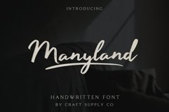 Manyland - Handwritten Font Product Image 1