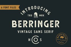 Berringer - Vintage Type Family Product Image 1
