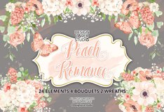 Watercolor Peach Romance design Product Image 2