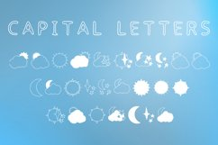 Skies - sun, moon and stars magic doodle font Product Image 3