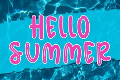 Summer Meadows - Shiny & Solid Fun & Quirky Font Product Image 2