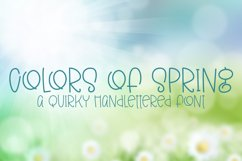 Colors of Spring - A Quirky Hand-Lettered Font Product Image 1