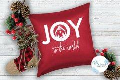 Joy SVG, Joy to the World SVG, Nativity SVG, Manger SVG Product Image 4