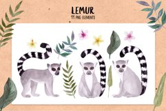 Watercolor Lemur. Patterns, Cliparts Product Image 2