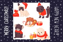 Christmas dogs cartoon cute set Product Image 1