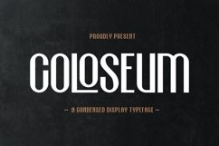Coloseum - Condensed Display Typeface Product Image 1