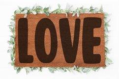 Love Doormat svg   Valentine svg   Welcome sign svg  Love Product Image 1