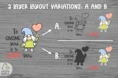 Girl gnome svg Valentine sublimation gnomes design Gnome png Product Image 2
