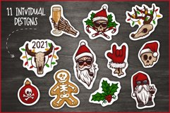 Creepy Christmas & Heavy New Year Stickers, Christmas PNG Product Image 2