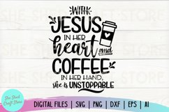Coffee and Jesus SVG - Coffee SVG - Southern Saying SVG Product Image 2