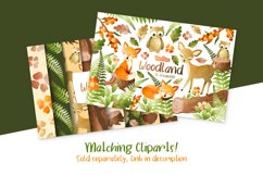 Woodland Digital Papers Product Image 2