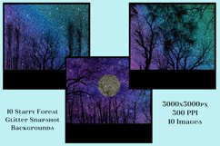 Starry Forest Glitter Snapshot Backgrounds - 10 Image Set Product Image 2