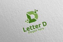 Digital Letter D Logo Design 11 Product Image 3