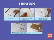 #17 Deer Spirit, 3D Shadow box paper cut lightbox Product Image 3