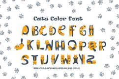 Cats cute OTF color font Product Image 4