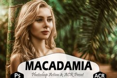 Macadamia Photoshop Actions And ACR Presets, Brown Ps action Product Image 1