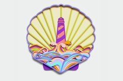 Multilayer Lighthouse Mandala, Vector file for cutting Product Image 1