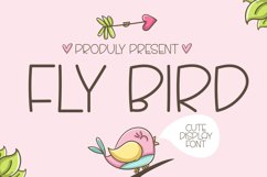 Fly Bird - Cute Display Font Product Image 1