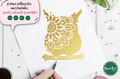 Owl Mandala SVG, Owl SVG, Owl Cut File, Owl Clipart, Stencil Product Image 1