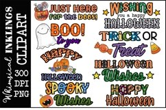 Halloween Word Art Clipart-Sublimation Set Product Image 1