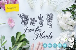 Love for plants svg, Gardening Vector Cut File, plant svg Product Image 2