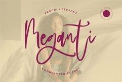 Web Font Meganti - A Modern Script Font Product Image 1