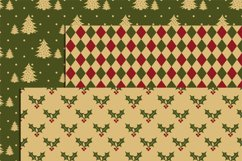 Vintage Christmas Digital Papers Product Image 2