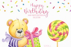Happy Birthday hand painted watercolor collection Product Image 3