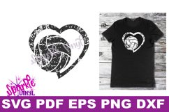svg grunge distressed gift for volleyball heart svg dxf eps Product Image 6