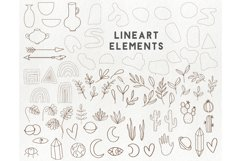 150 modern abstract design elements - floral illustrations Product Image 4