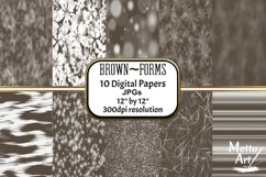 Brown Forms - 10 Digital Papers/Backgrounds Product Image 1