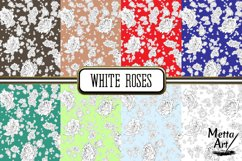 White Roses - 16 Digital Papers/Backgrounds Product Image 3