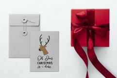 Oh deer Christmas is here. Oh deer SVG. Reindeer Head SVG. Product Image 3