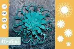 Paper Flower Template Bundle | Paper Cutting Bundle SVG Product Image 6